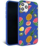 Husa iPhone 11 Pro Max- Silicon Matte - Fruits