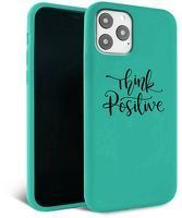 Husa iPhone 11 Pro Max- Silicon Matte - Think Positive 1